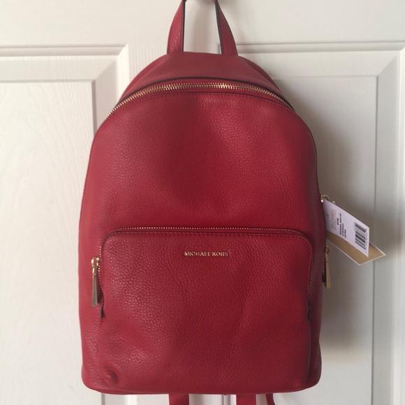 11cefde27d58 MICHAEL Michael Kors Bags | Brand New Michael Kors Red Leather ...